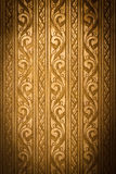 Thai Traditional Carving in Contemporary style, Weathered Gold. Thai Traditional Carving in Contemporary style on Weathered Gold Plate Background, Vignette Stock Photos