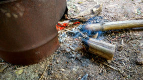 Thai traditional charcoal burning clay stove Royalty Free Stock Images
