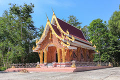 Thai traditional church which donate by people in countryside. Village Stock Image