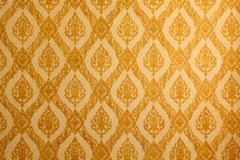 Thai traditional classic pattern on temple wall Stock Images