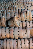 Thai traditional clay pottery Stock Photography