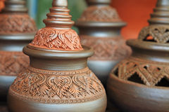Thai traditional clay pottery Royalty Free Stock Photography