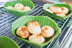 Thai traditional coconut milk dessert Royalty Free Stock Photos