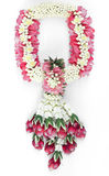 Thai traditional craft flower garland isolated. Stock Images