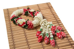 Thai traditional craft flower garland Royalty Free Stock Photography