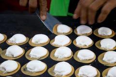 Thai traditional crispy pancake Stock Images