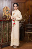 Thai traditional culture cloth Royalty Free Stock Image