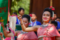 Thai Traditional Culture Festival Stock Photo
