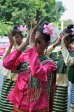 Thai Traditional Dancing. BANGKOK, THAILAND - OCTOBER 3: Thai traditional dance. This is the parade of making traditional merit of people from the northern stock image