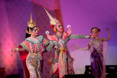 Thai traditional dancing. Royalty Free Stock Images