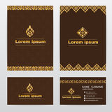 Thai traditional design ( Lai Thai pattern ) brown abstract background Stock Image