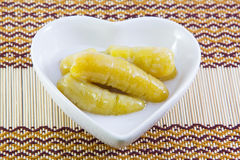 Thai traditional dessert banana Stock Image