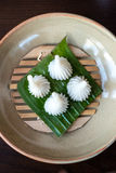 Thai traditional dessert. Royalty Free Stock Photography