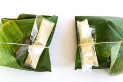 Thai traditional dessert package. On white background Royalty Free Stock Images