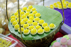 Thai traditional dessert Stock Photos