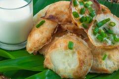 Thai traditional dessert. Takoyaki named mortar toasted pastry Stock Image