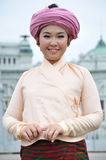 Thai Traditional Dress. BANGKOK, THAILAND - OCTOBER 2: Unidentified Thai lady in traditional dress during a parade of people from the northern territory of stock photos