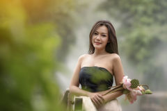 Thai traditional dress Royalty Free Stock Photography