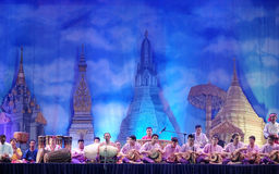 Thai traditional drum dancing Royalty Free Stock Photography