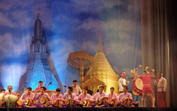 Thai traditional drum dancing. The National Theatre in Bangkok will come alive with the exotic beat, rhythm and tempo of the world's drums during a two-day Stock Image