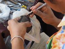 Thai Traditional Earthen pot making Stock Photo