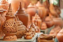 Thai traditional earthenware Stock Image