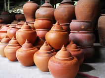 Thai traditional earthenware Royalty Free Stock Images
