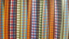 Thai traditional fabric. Thai traditional fabrics in strips pattern Stock Photos