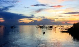Sunrise and sea royalty free stock photos