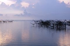 Thai traditional fishing traps Royalty Free Stock Images