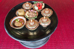 Thai traditional food: artificial food bowl,background/texture. Royalty Free Stock Images