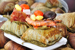 Thai Traditional Foode. Thai Traditional Food in lotus leaf royalty free stock images