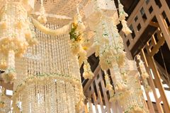 Garland chandelier Stock Photo