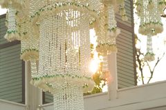 Garland chandelier Thai Style Royalty Free Stock Image
