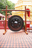 Thai traditional gong in Buddhist temple Royalty Free Stock Photos