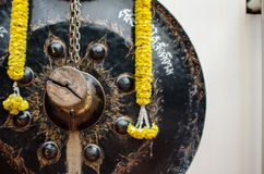 Thai traditional gong and a hitter Royalty Free Stock Photography