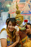 Thai traditional grand puppet Stock Photos