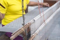 Thai traditional hand-weaving loom. Stock Photography
