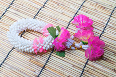 Thai traditional jasmine garland Royalty Free Stock Images