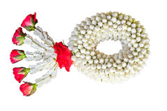 Thai traditional jasmine garland.symbol of Mother's day in thail Royalty Free Stock Image