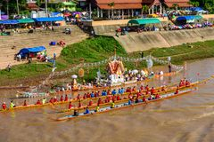 Thai traditional long boat racing Stock Images