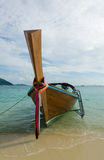 Thai traditional long tail boat on the beach Royalty Free Stock Photography