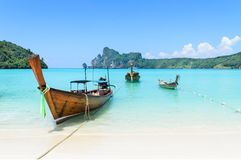 Thai Traditional longtail boat Royalty Free Stock Photography