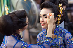 Thai Traditional make up Stock Photography