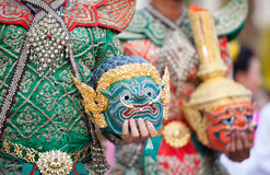 Thai traditional mask Khon Royalty Free Stock Photo