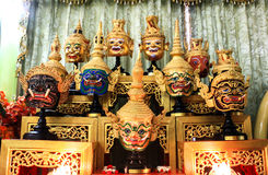 Thai traditional mask use in royal performance, Khon Stock Photos
