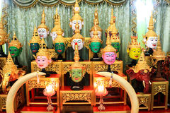 Thai traditional mask use in royal performance, Khon Royalty Free Stock Photos