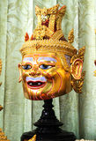 Thai traditional mask use in royal performance, Khon Royalty Free Stock Images