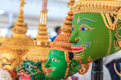 Thai traditional mask. Used in the male masked dance drama of Thailand or called Khon Royalty Free Stock Photography