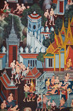 Thai traditional mural Stock Images